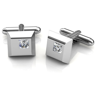 Harga Square Cufflinks - Crystals from Swarovski®