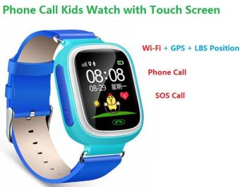 Harga 2Cool Kids Smart Watch with Touch Screen Phone Call WiFi Position Anti Lose SOS GPS Tracker Children SmartWatch for iPhone Android - intl