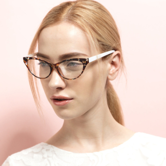 Harga JINQIANGUI Fashion Glasses Frame Vintage Retro Cat Eye Glasses Leopard Frame Glasses Plastic Frames Plain for Myopia Women Eyeglasses Optical Frame Glasses - intl