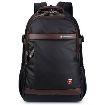 "New Brand SWISSGEAR Waterproof 15"" Laptop SWISS Men and Women Backpack Computer Notebook Bag Brown - Intl"