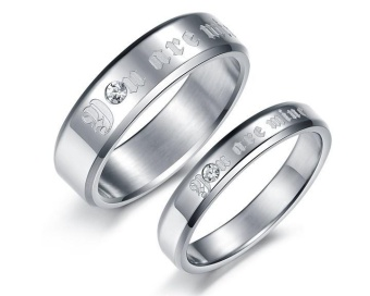 Harga Couple Finger Rings Engagement Lovers Rings - intl
