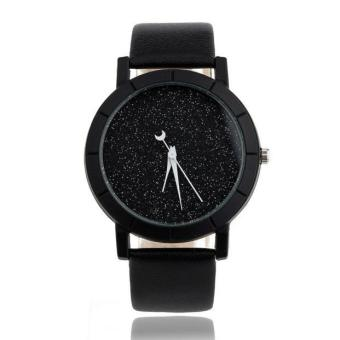 Harga Star Minimalist Fashion Watches For Lovers Leather Strap Watch - intl