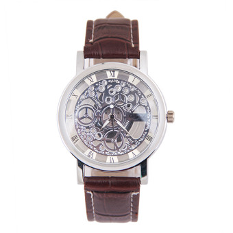 Harga Men Mechanical Gear Watch Silver
