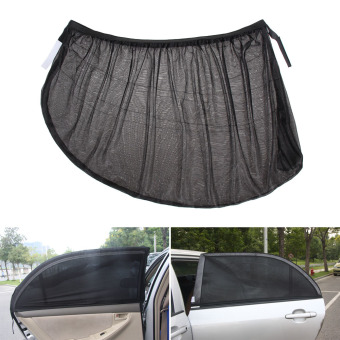 Harga L 2X Car Side Rear Window Sun Shade Mesh Cover Visor Shield Sunshade UV