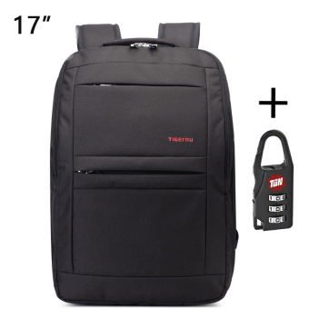 Harga Tigernu Waterproof Anti-theft Four-tooth zipper Shcool College Causal 17 Inches Laptop backpack for 12.1-17 Inches Laptop T-B3152(Black)
