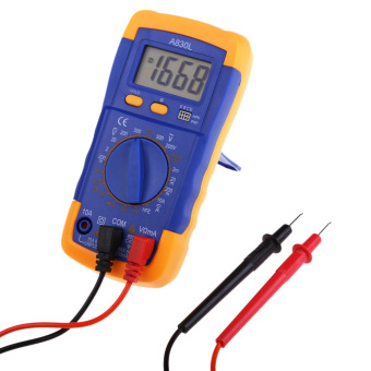 Harga A830L Handheld Mini Pocket Digital LCD AC DC Multi Meter Tester Blue Orange