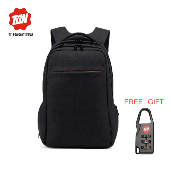 "Harga Tigernu Brand Cool Urban Fashion Men Women 12-15.6"" Laptop Backpack T-B3130(Black) (EXPORT)"