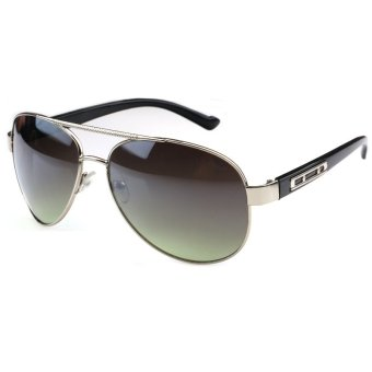 Harga Sun Sunglasses Men Pilot Sun Glasses Green Color Brand Design - intl