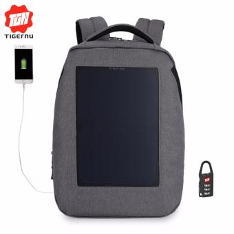 "Harga Tigernu T-B3164 Solar Backpack with USB charging port 14"" Laptop Backpack - intl"