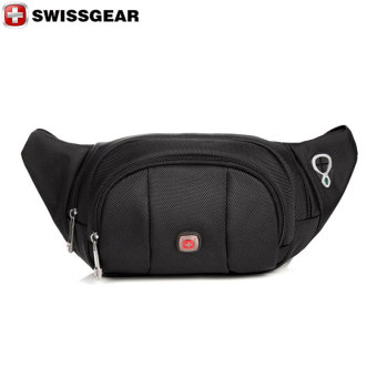 "New Brand SWISSGEAR Waterproof Nylon 7"" Laptop SWISS Unisex Fashion Shoulder Bag Solid Waist Bag JDB92 Black - Intl"