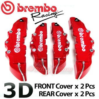 Brembo New ABS Universal Disc Brake Caliper Covers Front & Rear -4pcs (Red) - intl