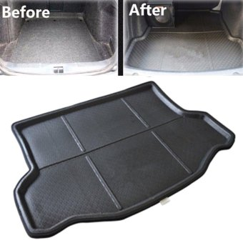 Black Car Rear Trunk Mat Cargo Boot Liner Tray for Toyota RAV4 2013-2017 Up NEW - intl