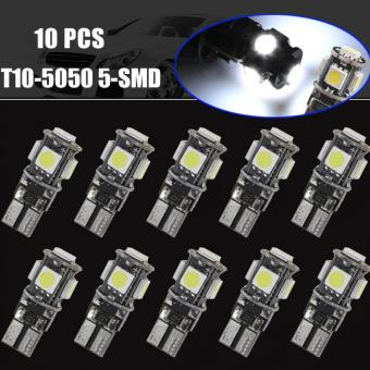 10pcs T10 5050 5-SMD LED W5W 194 168 Interior Canbus Error Free Bulbs White Light - intl