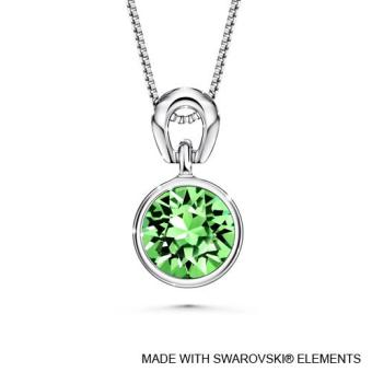 Birthstone Solitaire Pendant August (Peridot) Crystals from Swarovski®