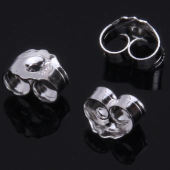 Harga Hang-Qiao 12pcs Fashion 30% Silver Plated Ear Plug Earrings Backs Jewelry DIY Accessories