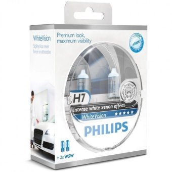 Harga Philips White Vision H7 Twin Pack