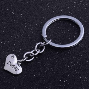 Harga Mommy Daddy Sister Nana Family Keychain Heart Rhinestone Keyring Fashion Souvenirs Gifts - intl