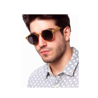 Harga Sunglasses Men Oval Sun Glasses Yellow Color Brand Design