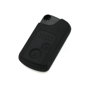 Harga CV5202BK Leather Texture Silicone Key Cover Fit for Honda 2 Button Smart Remote Key Black (EXPORT)