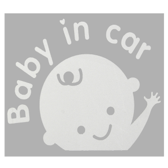 Harga Baby In Car Cartoon Car Stickers Waving Baby on Board Safety SignCar Decal White - intl