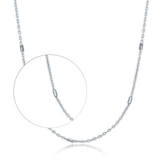 Harga Chow Tai Fook 18K 750 White Gold Chain Necklace