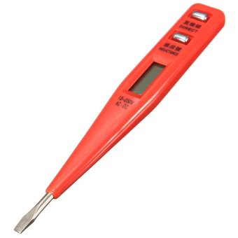 Harga Digital LCD AC/DC Electric Voltage Tester Alert Test Pen Detector Sensor Stick