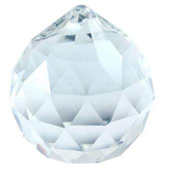 Harga leegoal 30MM Exquisite Adornment Clear Crystal Prisms Ball Pendant,Transparent - intl
