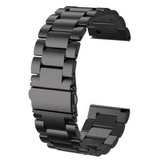 26MM Watch Band 2017 Metal Stainless Steel Watch Band Strap For Garmin Fenix 3 / HR /Fenix 5X Black - intl