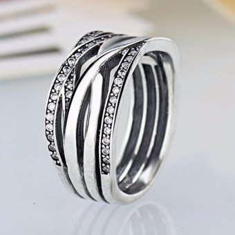 Harga Hequ NEW! AUTHENTIC PANDORA ENTWINED RING HINGED BOX - intl