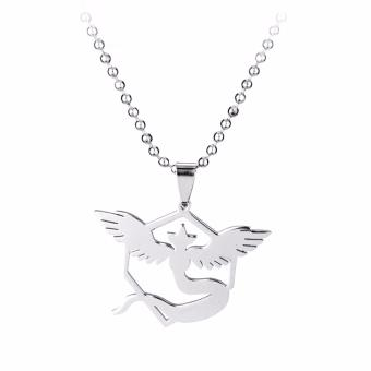 Harga Fancyqube New Pokemon Go Necklace Game Anime Stainless Steel Team Valor Mystic Instinct Logo Bead Chain for Women and Men fans H02 - intl