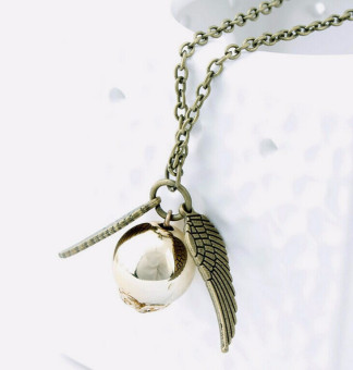 Harga The 2016 Harry Potter And The Deathly Hallows Necklace Gold Snitch Exquisite Bal