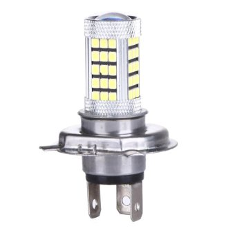 Harga DC 12V H4 2835 63 LED 6000K Car Projector Fog Driving Light (White) - intl