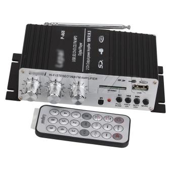 Harga USB & FM Amp Car Mini Power Amplifier Black
