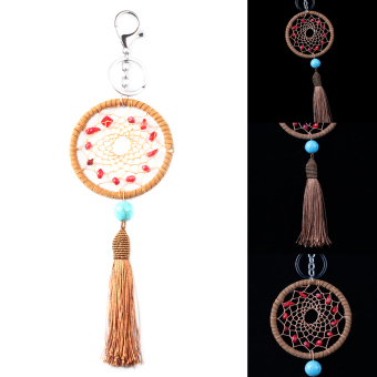 Dream Catcher Feather Pendant Key Chain Keyring Ring Keychain Gift