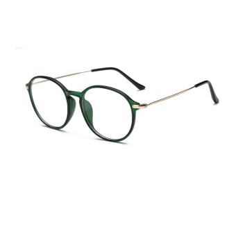 Harga JINQIANGUI Fashion Glasses Frame Vintage Retro Round Glasses Green Frame Glasses Plastic Frames Plain for Myopia Men Eyeglasses Optical Frame Glasses - intl