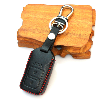 Harga Leather Smart Key Cover Key Case Fit For Honda Vezel HR-V XRV Jed Jazz(black)