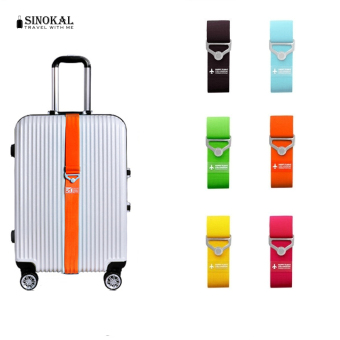 Harga Travel Elastic Luggage Straps Adjustable Strap Travel Luggage Belt Suitcase Strap New Brand Candy Color - Black