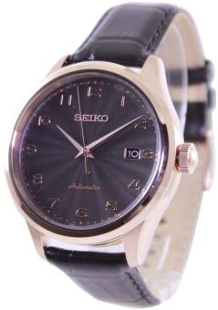 Harga Seiko Automatic 100M Men's Brown Leather Strap Watch SRP706K1