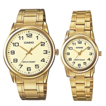 Harga Casio Couple Stainless Steel Watch LTPV001G-9B MTPV001G-9B