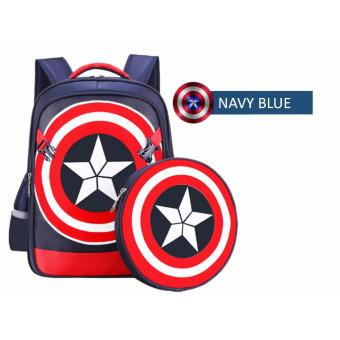 Harga 3D American Captain PreSchool School Bag Backpack K1 to Primary 2