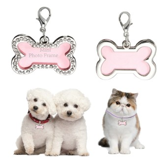 Harga Stainless Steel Pet Cat Dog Bone In ID Dog Tag Form Tags Custom - intl
