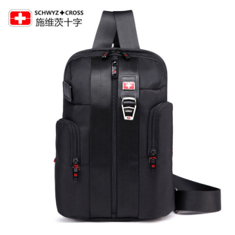 SCHWYZ+CROSS 81426 Model Unisex Leisure Travel Business Outdoor One-Shoulder Bag (Black)