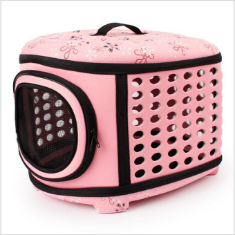 Harga Pet Cat Dog Travel Carrier EVA Nylon Portable Breathable Box House for Small Dogs Cats Puppies(Pink) - intl