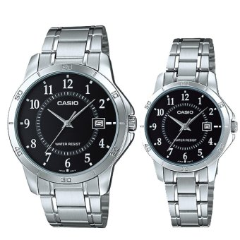 Harga Casio Couple Stainless Steel Watch LTPV004D-1B MTPV004D-1B
