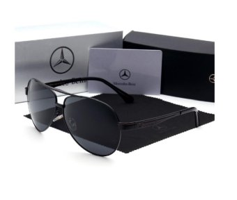 Harga 2017 Men Fashion Polaroid Sunglasses with Box(black) - intl - intl