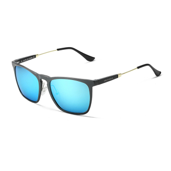 Harga Polarized Sunglasses Men Square Blue Color Polaroid Lens Plastic Frame Driver Sunglasses Brand Design Original Box Men Oculos