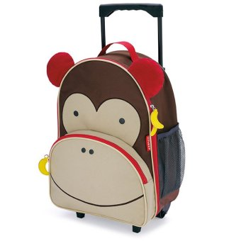 Harga Skip Hop Zoo Rolling Luggage - Monkey