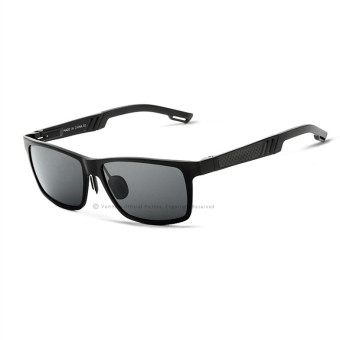 VEITHDIA Aluminum Sunglasses Polarized Lens Men Sun Glasses Mirror Male Driving Fishing Eyewears Accessories 6560 (Black/Gray)