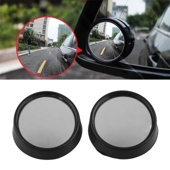 Harga 2Pcs Car Side Angle Small Round Convex Blind Spot Dead Zone Rearview Mirror - intl