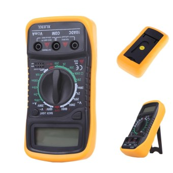 Harga Digital LCD Multimeter Voltmeter Ammeter AC DC OHM Volt Tester Test Current